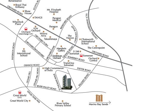 8 St Thomas location map