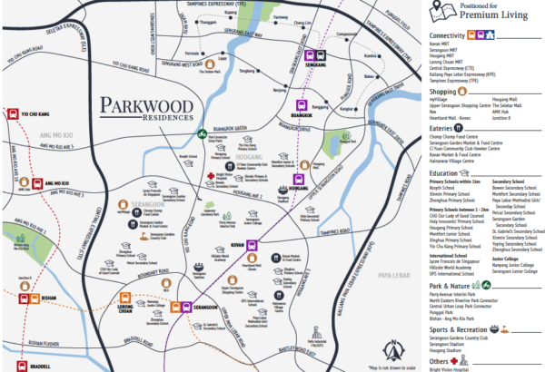 Parkwood Residences location map