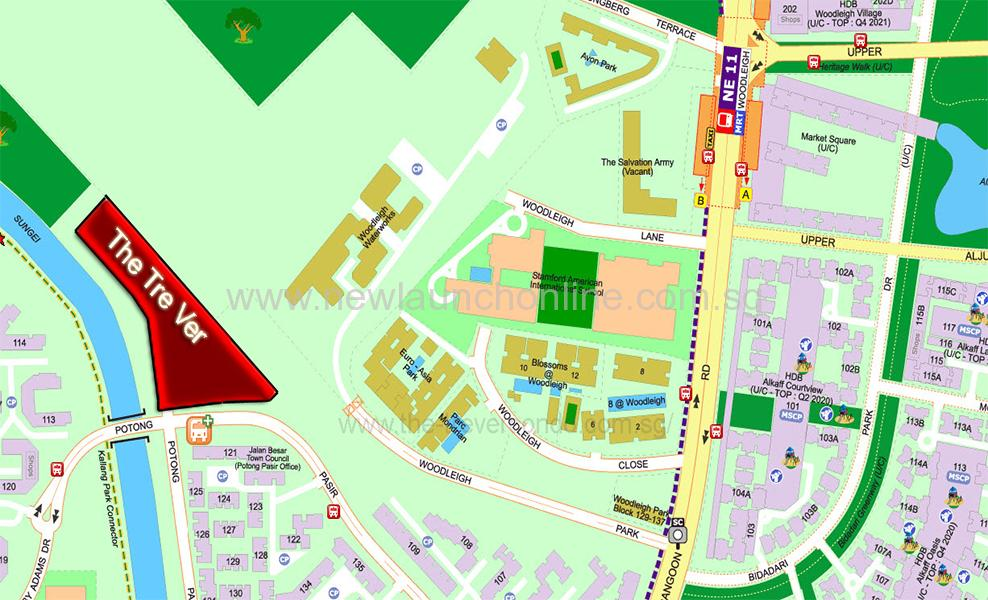 The Tre Ver Condo Location at Potong Pasir Avenue 1