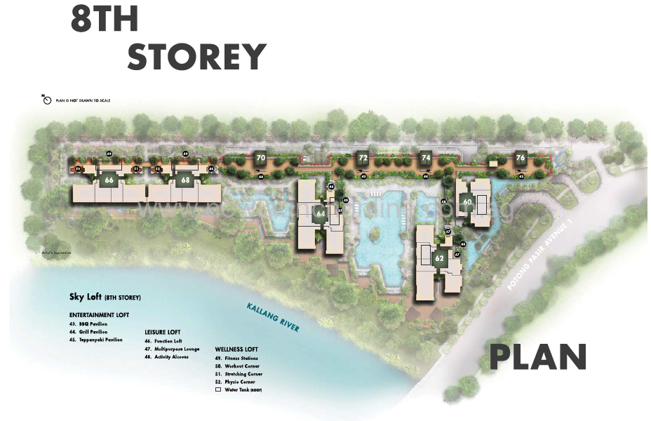 The Tre Ver site plan - 8th storey