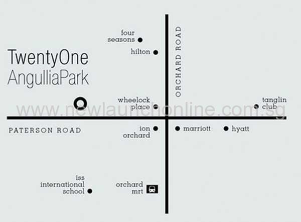 TwentyOne Angullia Park Location-Map