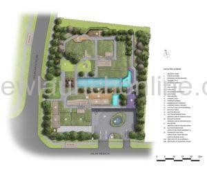 Mont Botanik Residence 1st floor site plan
