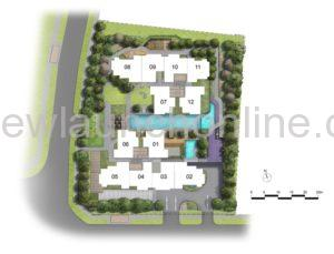 Mont Botanik Residence 2nd floor site plan