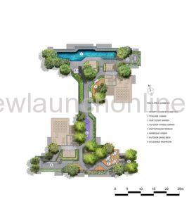 Mont Botanik Residence roof terrace site plan
