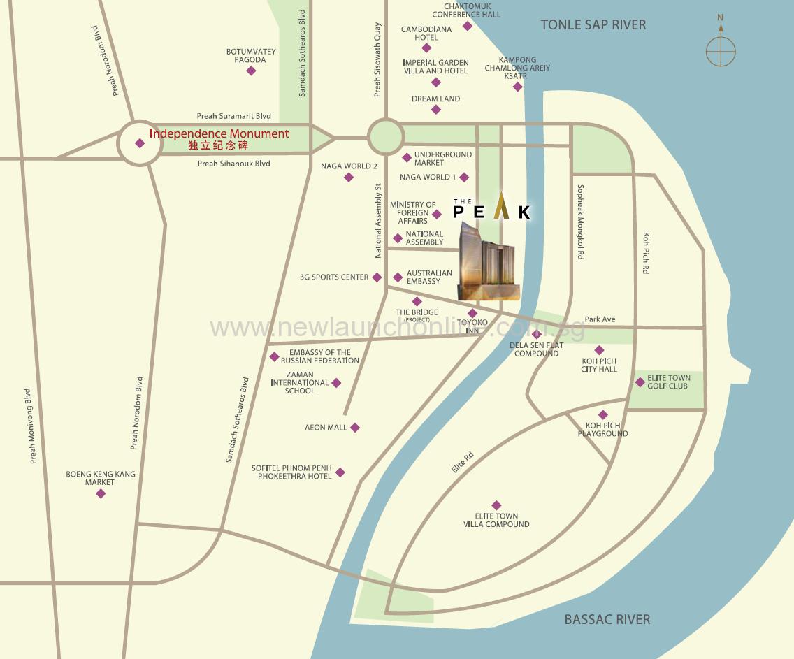 Peak Cambodia Map