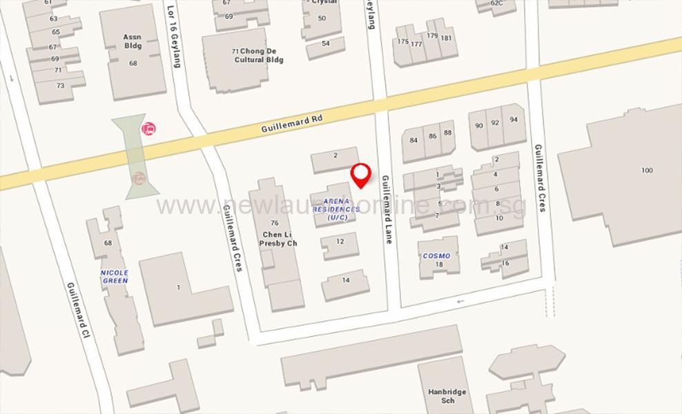 Arena Residences Location