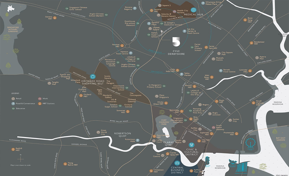Fyve Derbyshire Location Map