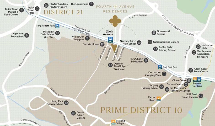 Fourth Avenue Residences location-map-2