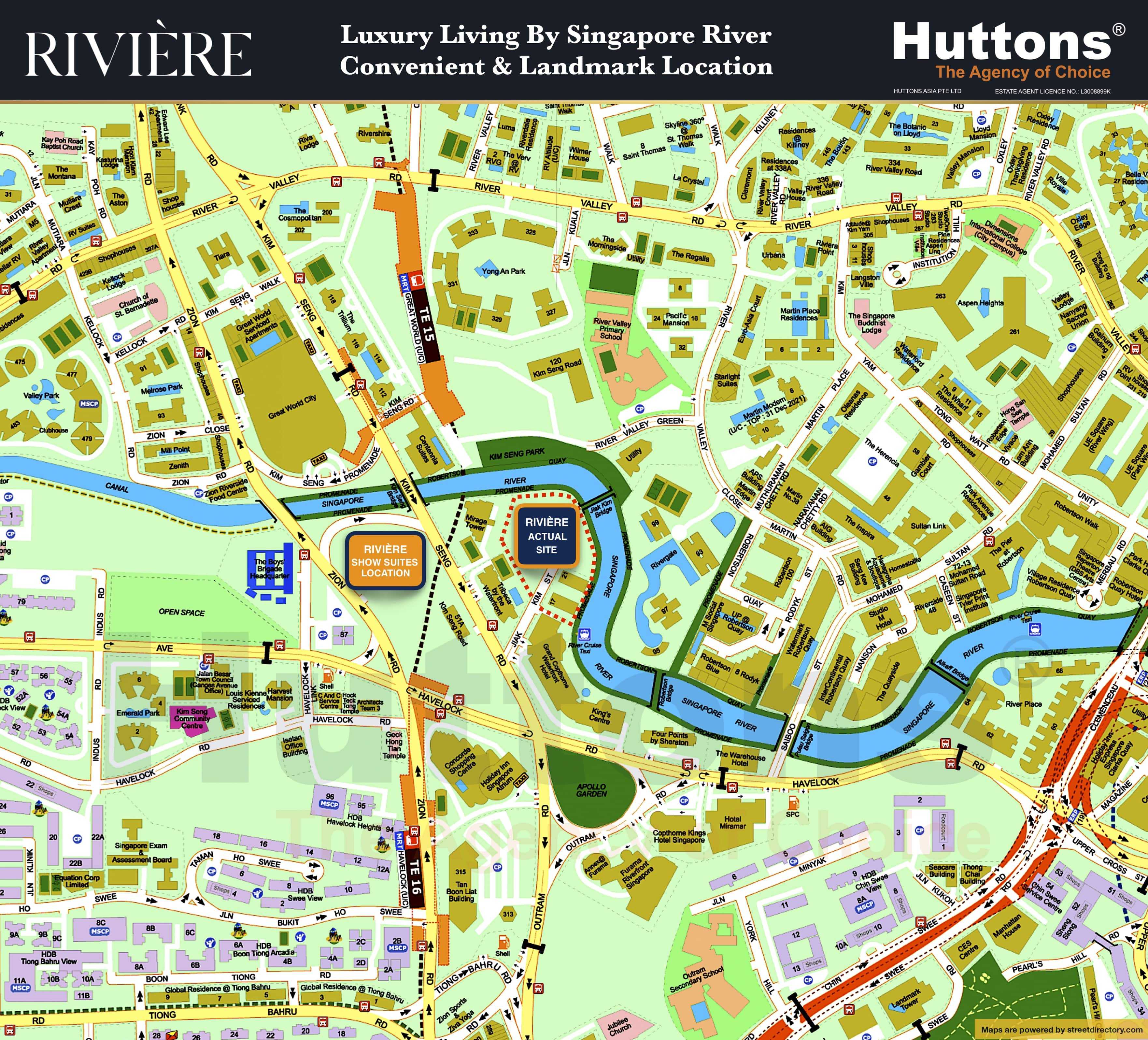 Riviere showflat Location Map