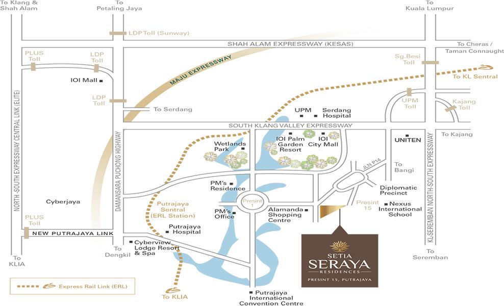 Seraya Residences Location