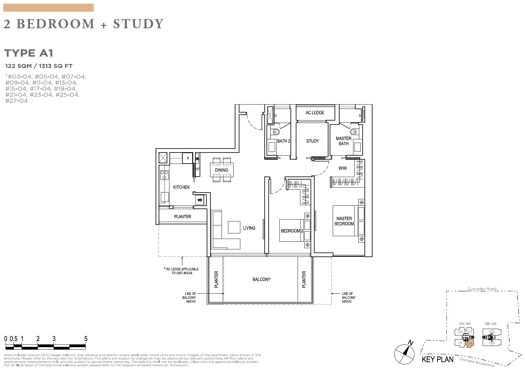 Boulevard 88 Floor Plan 2 Study Newlaunchonline Com Sg