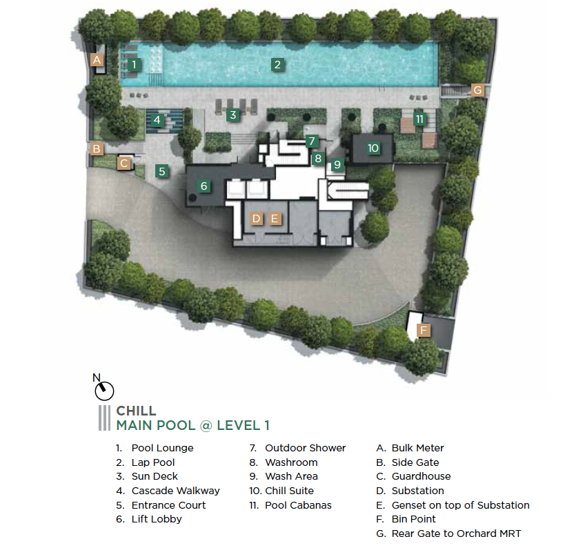 3 Cuscaden level 1 site plan