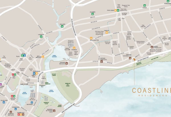 Coastline Residences location map