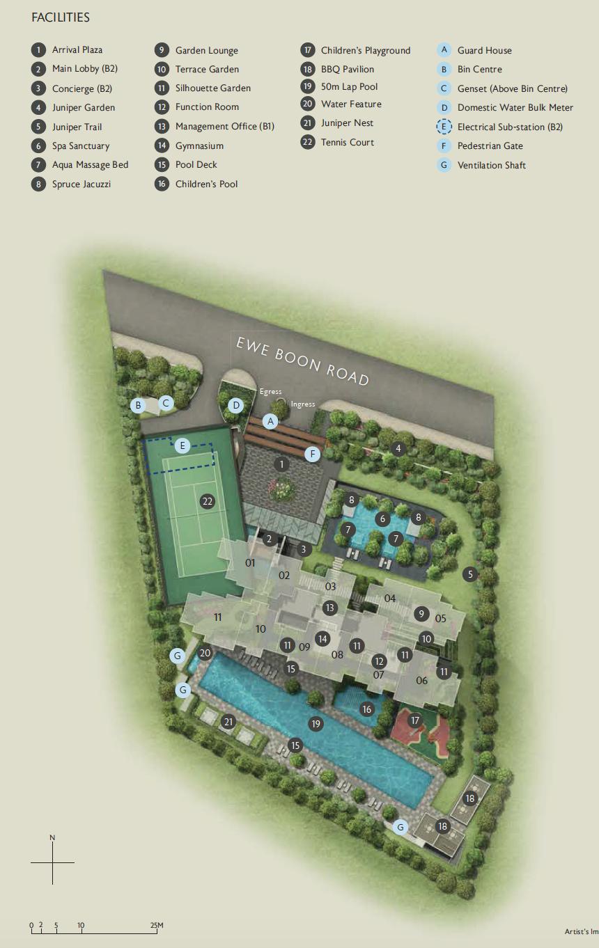 Juniper Hill site plan (level 1)