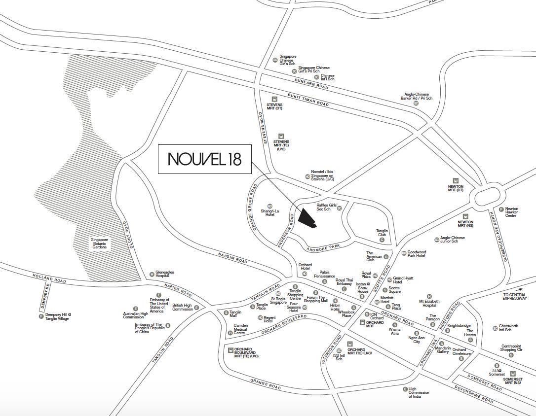 Nouvel 18 location map