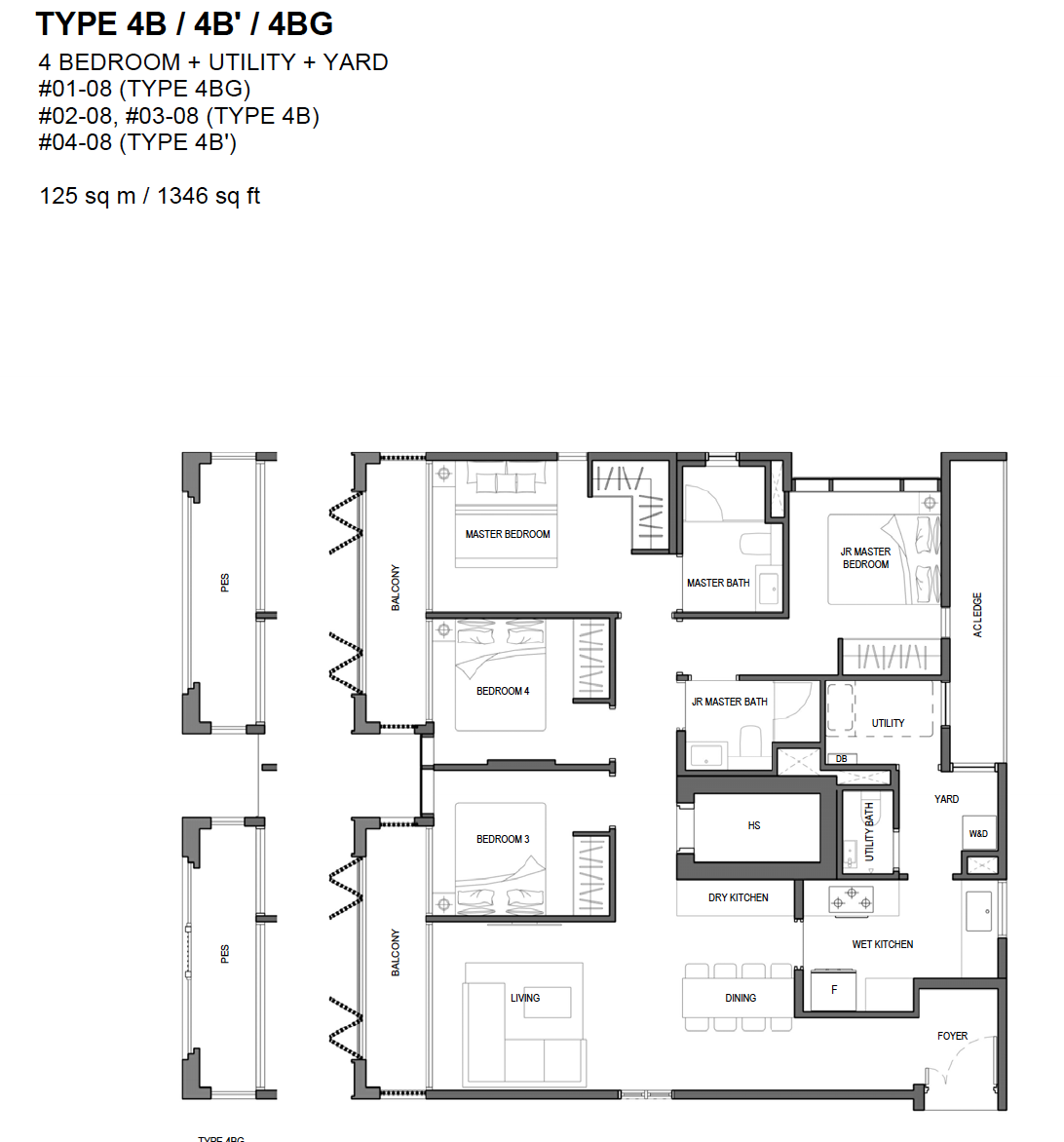 Olloi floor plan - 4 bedroom type 4B