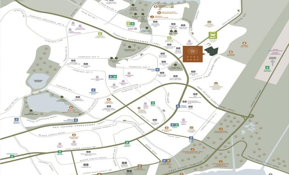 Parc Komo Location Map