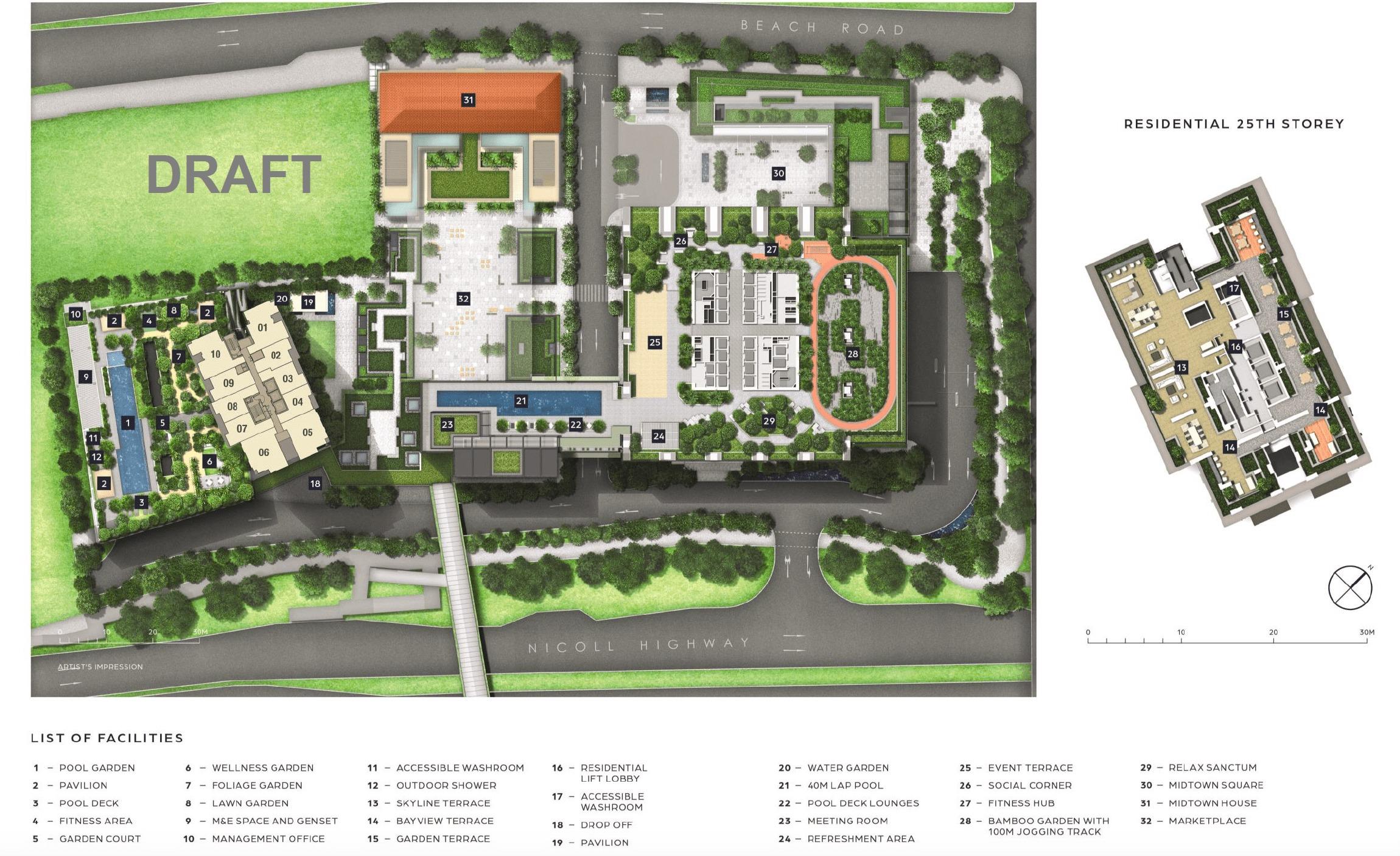 Guoco Midtown Bay draft site plan