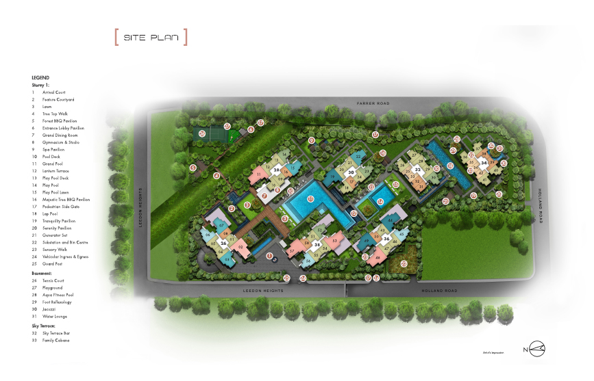 Leedon-Green-site-map