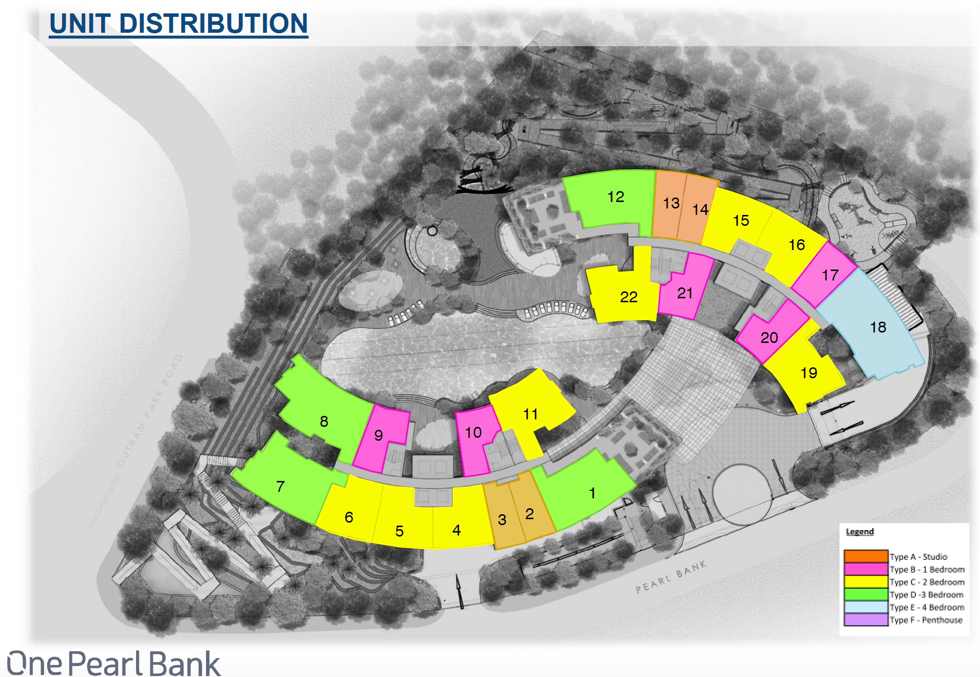 One Pearl Bank Unit Distribution site plan