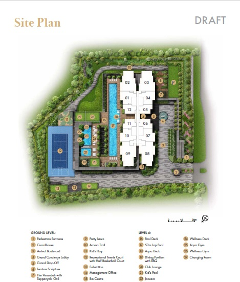 Pullman-Residences-site map
