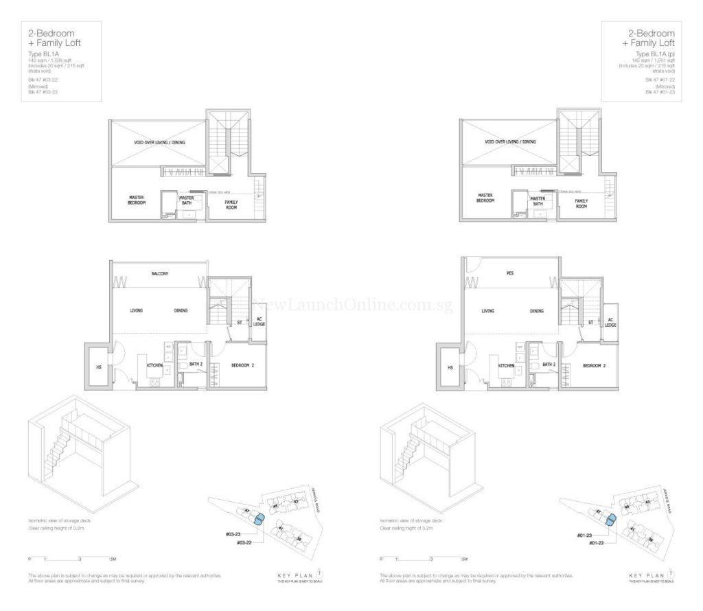 Mon Jervois Floor Plan 2+Family Loft BL1A