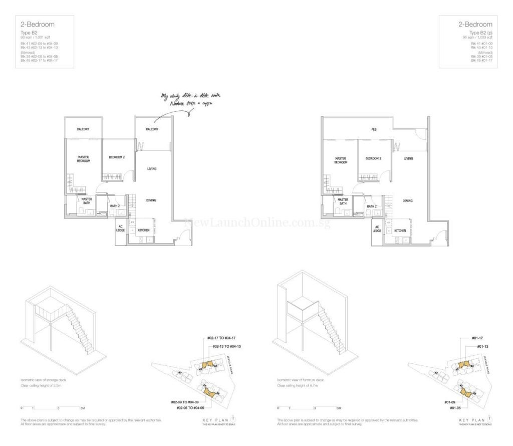 Mon Jervois Floor Plan 2 Bedroom Type B2