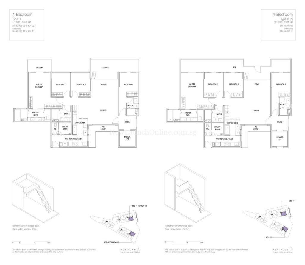 Mon Jervois Floor Plan 4 Bedroom Type D