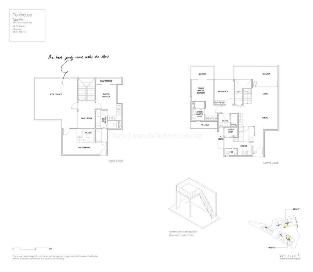 Mon Jervois Floor Plan Penthouse 1