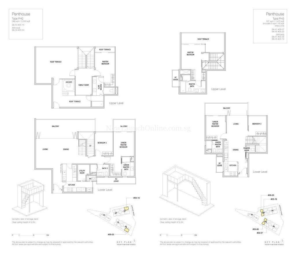 Mon Jervois Floor Plan Penthouse 3