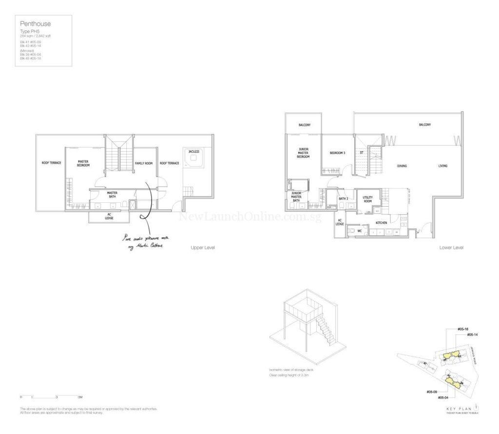 Mon Jervois Floor Plan Penthouse 5
